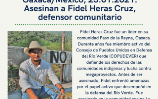 Exigimos justicia para Fidel